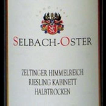 Selbach-Oster Selbach-Oster Zeltinger Himmelreich Riesling Kabinett Halbtrocken 2018<br />Mosel, Germany