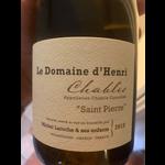 Le Domaine d'Henri Le Domaine d'Henri Saint Pierre Chablis 2018  <br /> Burgundy, France