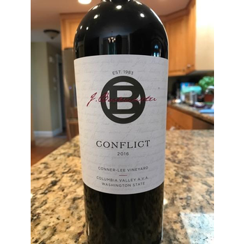 J.Bookwalter Conflict Conner-Lee Vineyard 2016<br /> Columbia Valley, Washington<br /> 94pts-JS, 91pts-WE, 91pts-WS