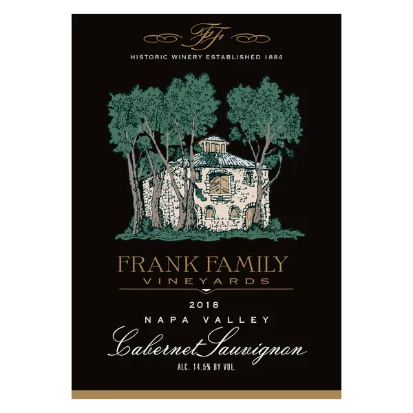 Frank Family Frank Family Vineyards Cabernet Sauvignon 2018<br />Napa, California