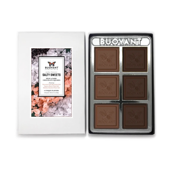 Buoyant Brands Inc. (Formally Lilly's Chocolates) Salty Sweets-Milk & Dark Chocolate Squares
