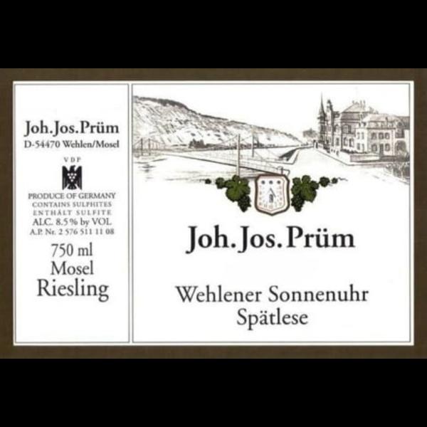 J J Prum Wehlener Sonnenuhr Spatlese Riesling 2018 <br /> Mosel, Germany