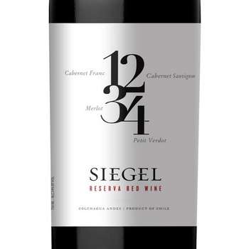 Siegel Siegel Reserve 1234 Red Chile 2018  <br /> Colchagua Valley, Chile