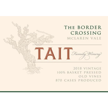 "Tait Family Winery ""The Border Crossing"" Shiraz 2018<br /> McLaren Vale, Australia"