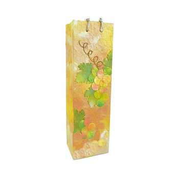 Bella Vita Handmade Paper One Wine Bottle Bag - Watercolors