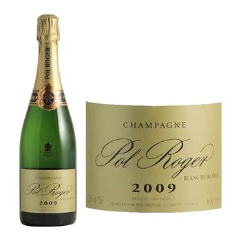 Pol Roger Brut Blanc De Blanc Champagne 2009<br /> Champagne, France<br /> 95pts-WE