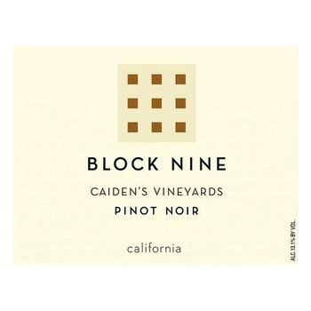 Block Nine Block Nine Caiden's Vineyards  Pinot Noir 2018<br />