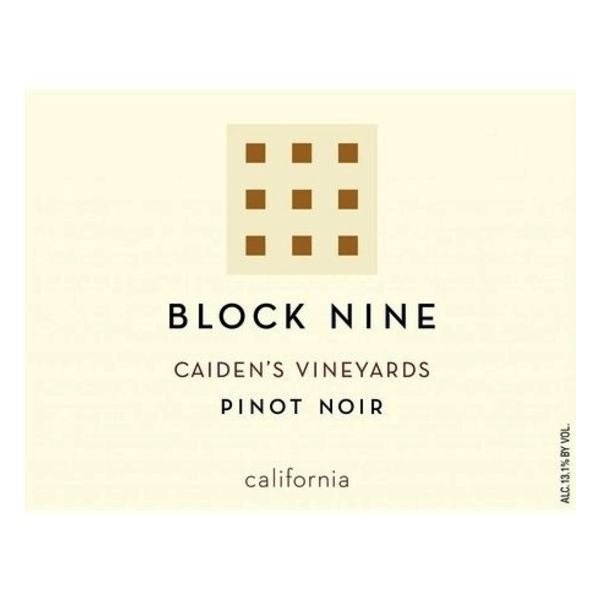 Block Nine Block Nine Caiden's Vineyards  Pinot Noir 2020<br />Napa/St. Helena, California
