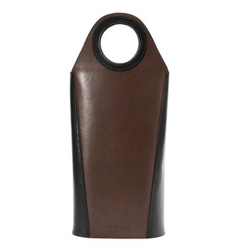 Oenophilia Tuscan Two Bottle Wine Tote in Walnut