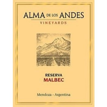 Alma De Los Andes Vineyards Alma De Los Andes Vineyards Reserva Malbec 2013  <br /> Mendoza, Argentina <br /> 91pts-WE