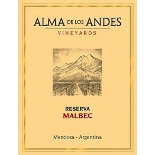 Alma De Los Andes Vineyards Alma De Los Andes Vineyards Reserva Malbec 2016<br /> Mendoza, Argentina