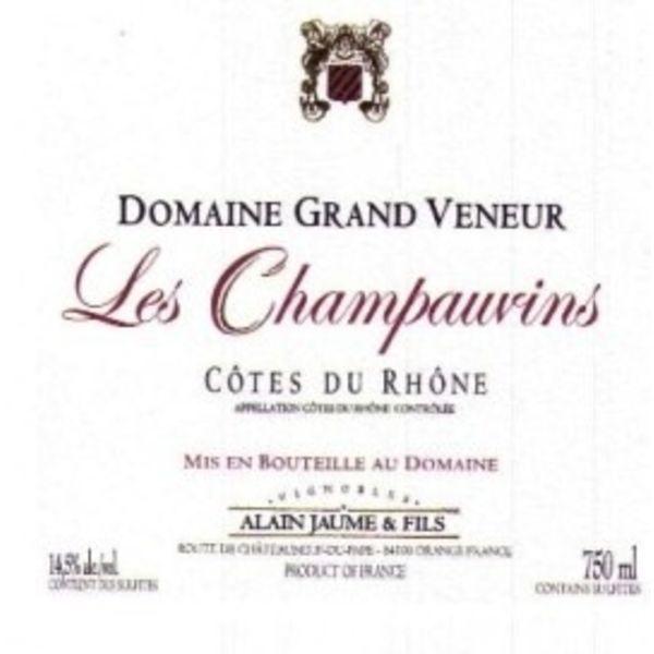 Alain Jaume Alain Jaume & Fils Domaine Grand Veneur Les Champauvins Cotes du Rhone 2016<br />Rhone, France