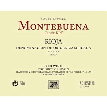 Montebuena Montebuena Rioja Tempranillo 2016<br />Rioja, Spain