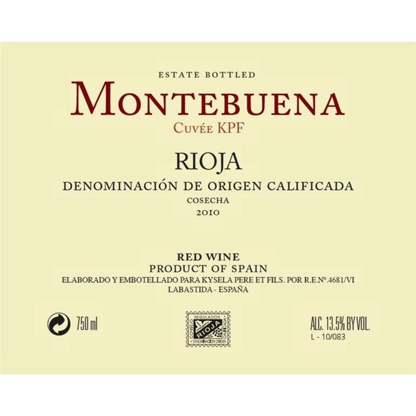 Montebuena Montebuena Rioja Tempranillo 2018<br />Rioja, Spain
