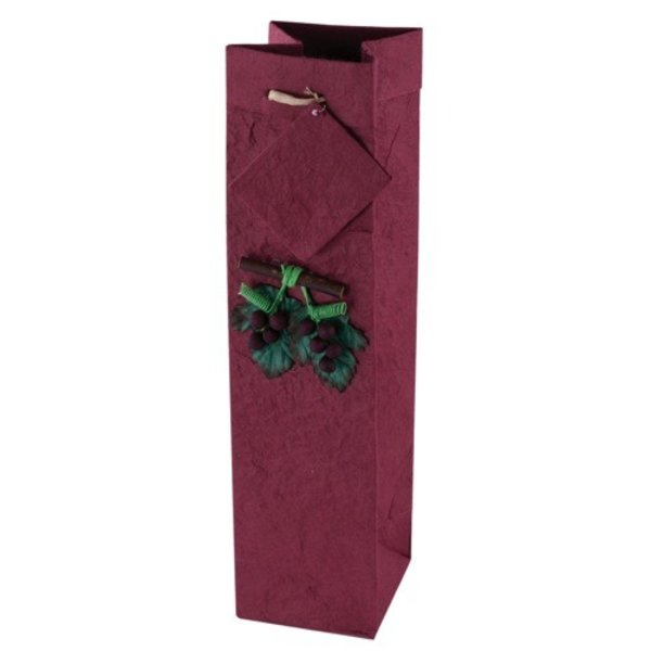 True Fabrications Crush Red Mulberry One Bottle Gift Bag W/Grapes