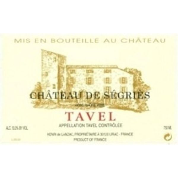 Ch Segries Ch de Segries Tavel Rose 2020<br />Rhone, France