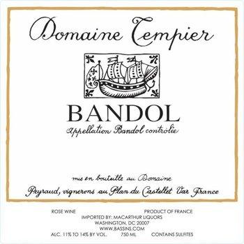Dm Tempier Domaine Tempier Bandol Rose 2018<br /> Provence, France