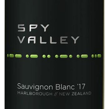 Spy Valley Wines Sauvignon Blanc 2017<br /> Marlborough, New Zealand<br /> 91pts-WE, 90pts-WS
