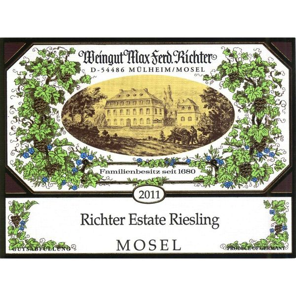 Richter Weingut Max Ferd. Richter Estate Riesling 2019 <br /> Mosel, Germany