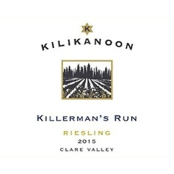 Kilikanoon Killerman&#039;s Run Riesling 2015<br /> Clare Valley, Australia<br /> 92pts-WS, &amp; WE<br /> #73 Wine Enthusiast Top 100 of 2017