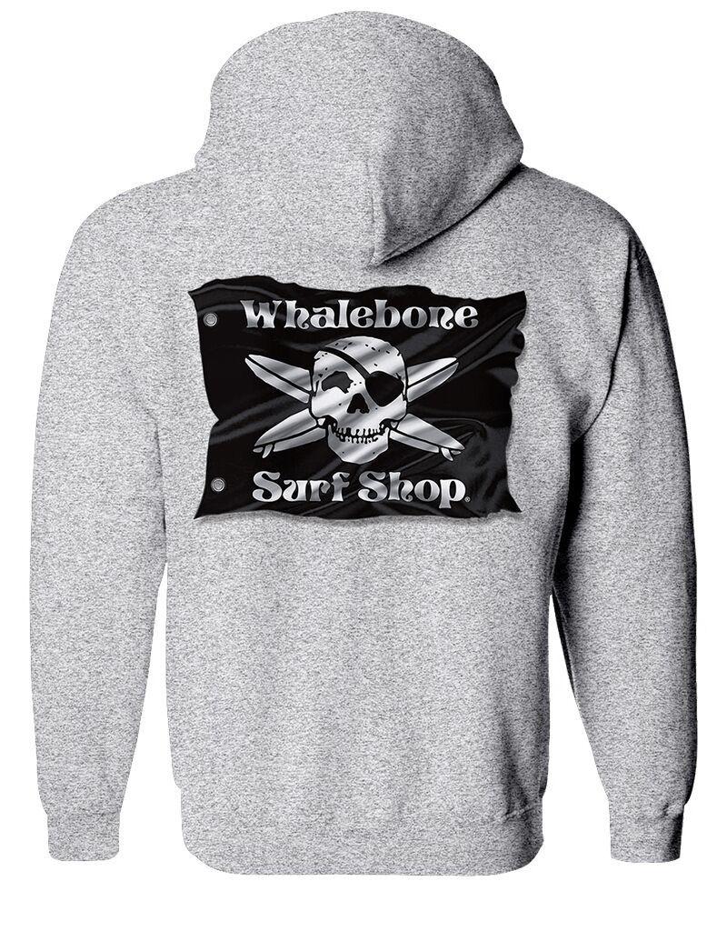 Whalebone Logo 3D FLAG ZIP UP HOODIE