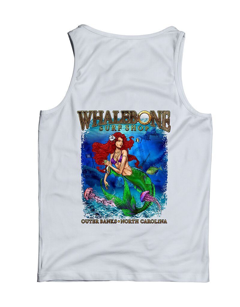 Whalebone Logo PORTHOLE MERMAID GILDAN TANK TOP