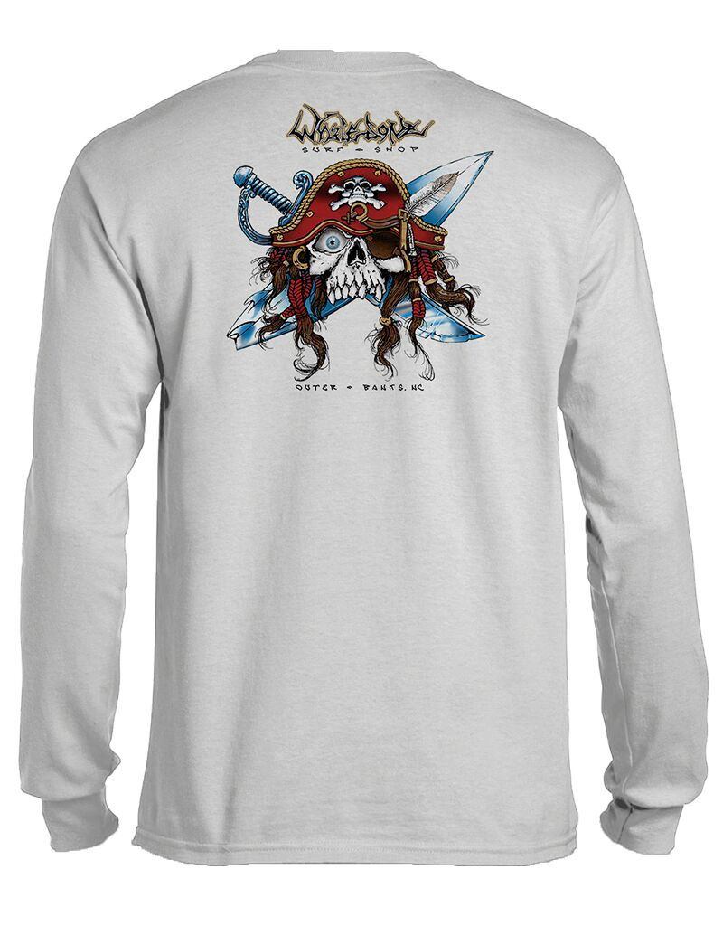 Whalebone Logo GNARLY PIRATE LONG SLEEVE TEE