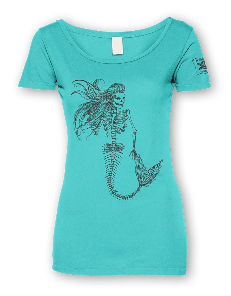 Whalebone Logo WOMENS MERMAID SKELETON FRONT PRINT IDEAL TEE
