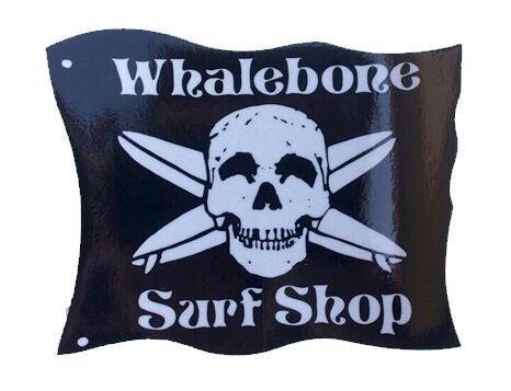 Whalebone Logo LOGO STICKER - WHALEBONE SURF SHOP LARGE REFLECTIVE