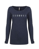 Whalebone Logo WOMENS WHALEBONE MOON PHASE TRI-BLEND SCOOP LONG SLEEVE TEE