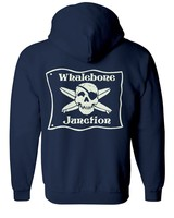 Whalebone Logo WHALEBONE JUNCTION GLOW ZIP UP HOODIE