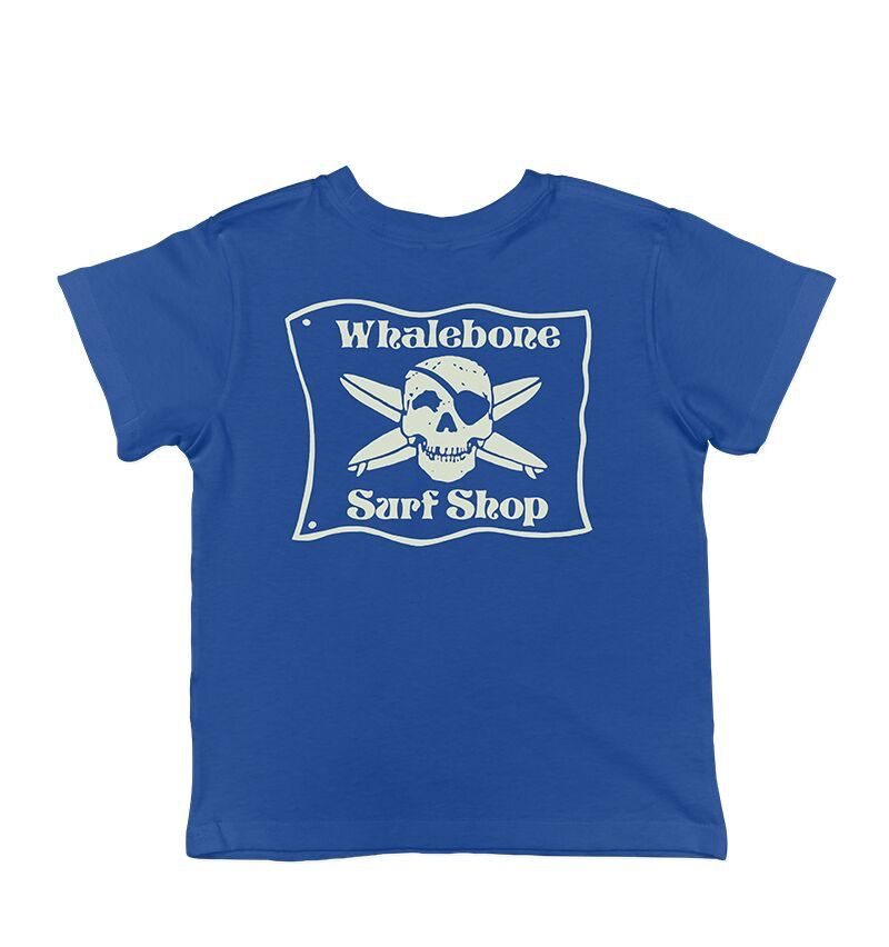 Whalebone Logo LITTLE KIDS WHALEBONE SURF SHOP GLOW SHORT SLEEVE TEE