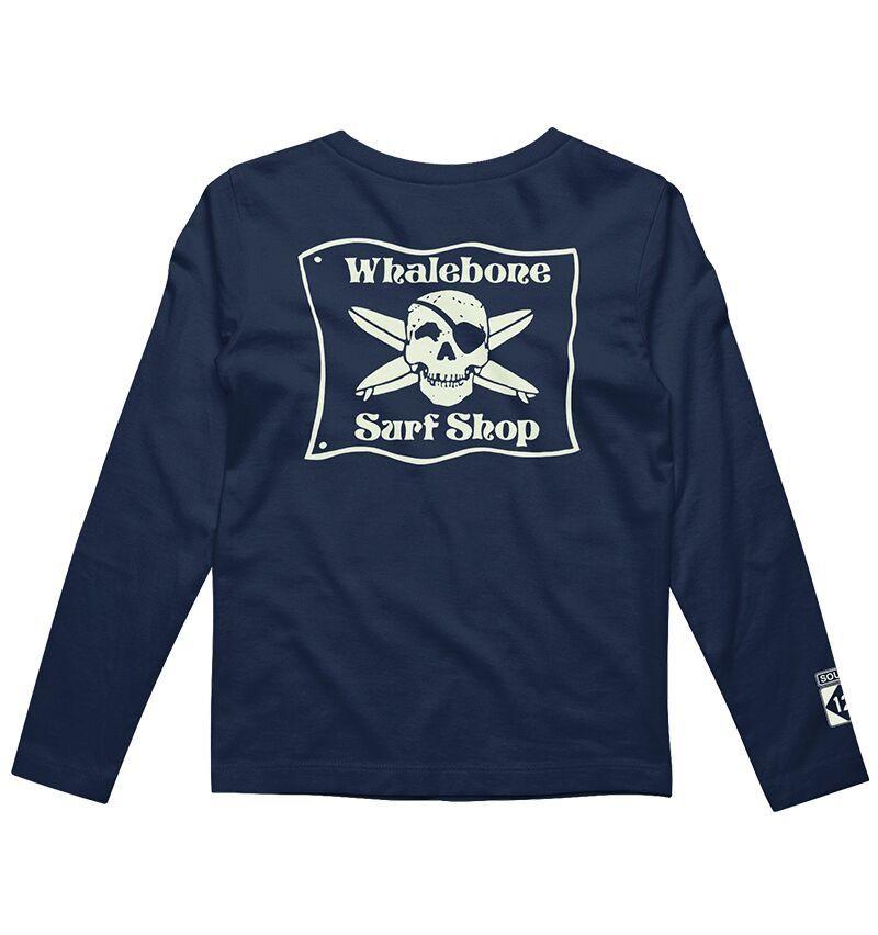 Whalebone Logo KIDS WHALEBONE SURF SHOP GLOW LONG SLEEVE TEE