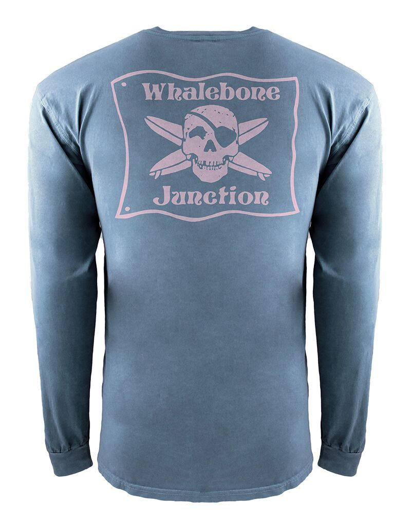 Whalebone Logo WHALEBONE JUNCTION PNKGLO INSPIRED DYE LONG SLEEVE TEE