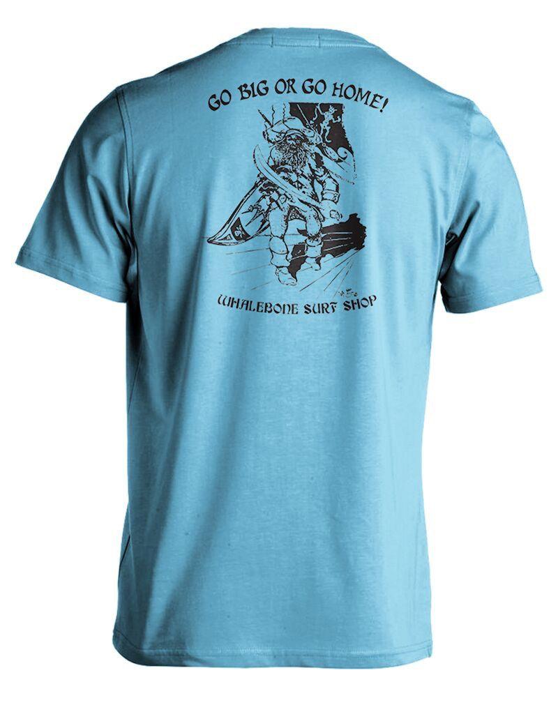 Whalebone Logo GO BIG OR GO HOME COTTON LINKS SHORT SLEEVE TEE