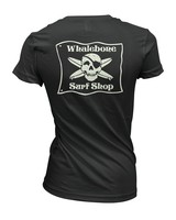 Whalebone Logo WOMENS WHALEBONE SURF SHOP GLOW SUEDED V NECK TEE