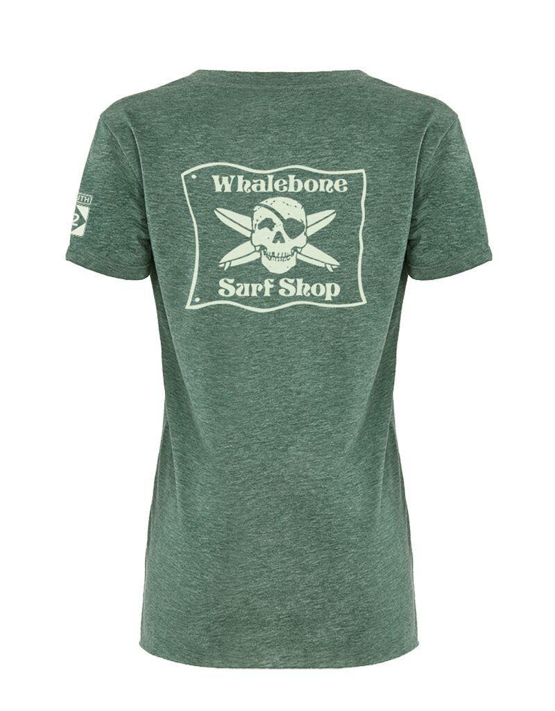 Whalebone Logo WOMENS WHALEBONE SURF SHOP GLOW FESTIVAL SCOOP TEE