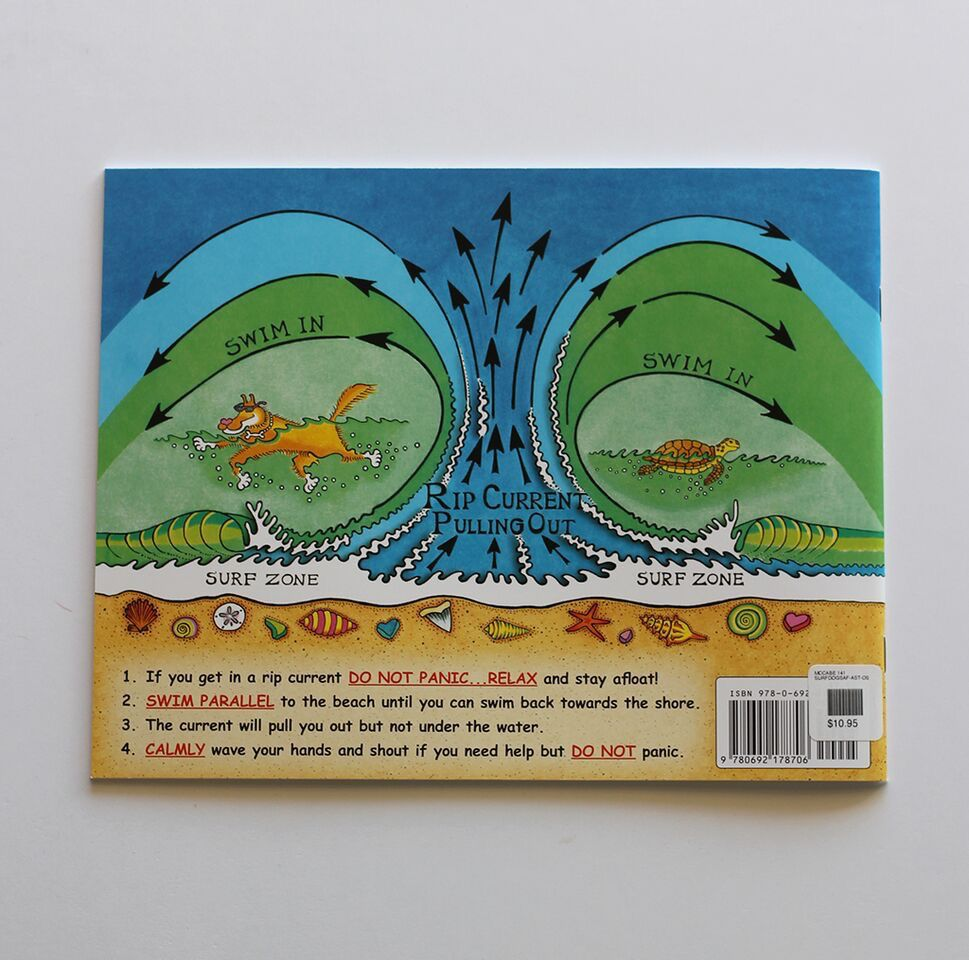 MISC SURF DOGS BEACH SAFETY TIPS CHILDRENS BOOK BY KEVIN MCCABE
