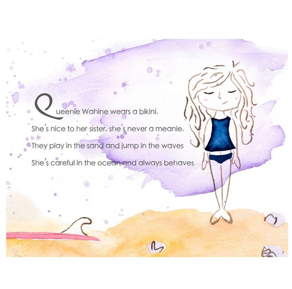 MISC QUEENIE WAHINE: LITTLE SURFER GIRL CHILDREN'S BOOK