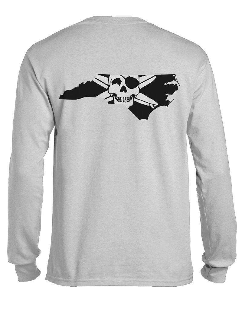Whalebone Logo STATE OF NC OUTLINE LOGO LONG SLEEVE TEE