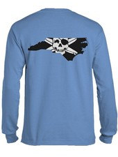Whalebone Logo STATE OF NC OUTLINE LOGO LONG SLEEVE TEE