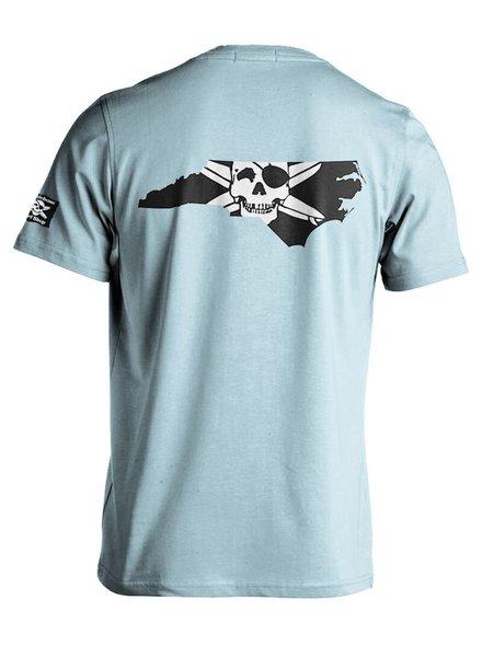 Whalebone Logo STATE OF NC OUTLINE PREMIUM BLEND SHORT SLEEVE TEE