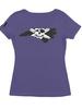 Whalebone Logo WOMENS STATE OF NC OUTLINE LOGO TRI-BLEND SCOOP TEE