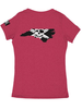 Whalebone Logo WOMENS STATE OF NC OUTLINE LOGO TRI-BLEND DEEP V TEE