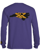 Whalebone Logo STATE OF NC OUTLINE WITH GOLD LOGO LONG SLEEVE TEE