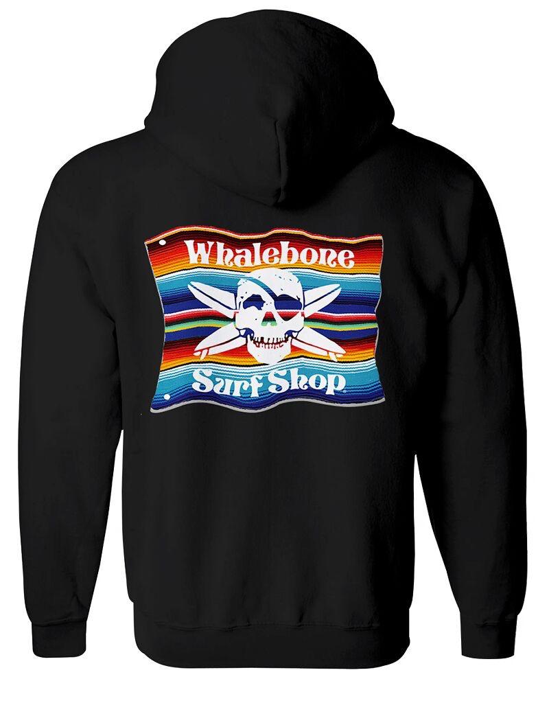Whalebone Logo MEXICAN BLANKET ZIP HOODIE