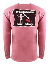 Whalebone Logo BLACKBEARD INSPIRED DYE LONG SLEEVE TEE