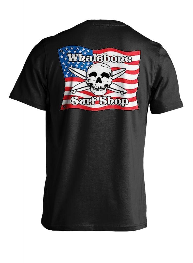 Whalebone Logo AMERICAN FLAG SHORT SLEEVE TEE