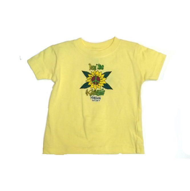 Logo PEACE LOVE & GROOVINESS TODDLER SHORT SLEEVE TEE