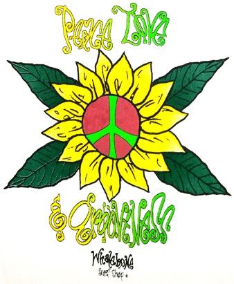 Logo PEACE LOVE & GROOVINESS BABY BODYSUIT